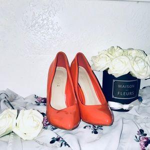 Heels (peachy orange )